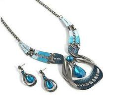 Waterdrop Earring Set Crystal Jewelry Set Fashion