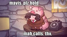 Gravity Falls - Working 9 to 5 with waddles the pig i love this