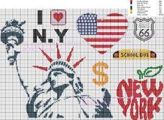Après London, voici une grille autour de New York, j'espère que cette grille vous plaira autant que celle d'hier.