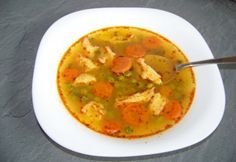 Édes borsóleves galuskával   NOSALTY Vegan Vegetarian, Vegetarian Recipes, My Recipes, Favorite Recipes, Healthy Menu, Hungarian Recipes, Thai Red Curry, Lunch, Meals