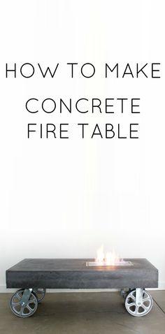 DIY Feuerstelle aus Beton selber machen l so schick und cool