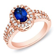 Auriya 14k Rose Gold 3/5ct TDW Sapphire and Diamond Engagement Ring (H-I, SI1-SI2) | 10% off