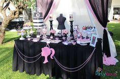 Beautiful Barbie birthday party! See more party planning ideas at CatchMyParty.com!