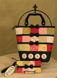 DIY bag and clutch with colorful patchwork pattern!