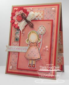 I made this card for MFTWSC79 with the sweet MFT Pure Innocence, Birthday Girl Stamp set and the Plentiful Petals Die-namics.