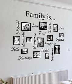 Wall Art Designs: Family Wall Art Artwork Mural Paintings Family Wall Art Quote Collage Awesome Photos On Framed Bordered Love Trust Faith Memories Creative Decor Stickers, Family Wall Art Home Ideas Wall Decor Family Wall Decor Family Wall Decal Gallery Wall Frames, Frames On Wall, Framed Wall Art, Wall Decals, Vinyl Frames, Mural Wall, Wood Frames, Family Tree Mural, Family Wall Decor