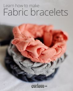 ORecycle - or rather, upcycle - your old t-shirts and fabric scraps! Follow along with Missy as she teaches you to finger-knit these handmade fabric bracelets.