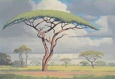 Another great Bushveld landscape painting by Jacobus Hendrik Pierneef South Africa Art, Art Galleries in South Africa, South African Artists.