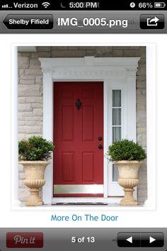I am craving a bright red door