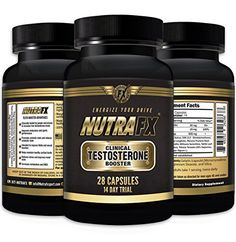 Natural Testosterone Booster Supplement 690mg  Bodybuilding Pills 28 Capsules by NutraFX ** Click image to review more details.
