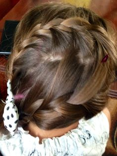 Two braids into ponytail