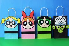 DIY Powerpuff Girls Party Favor Bags. Simply Download, Print, Cut and Paste. Print as many copies as you need.