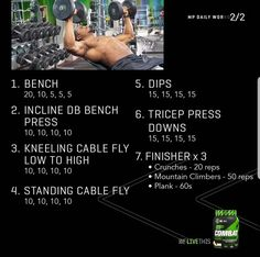 Chest Workout For Men, Chest Workout Routine, Abs Workout Routines, Chest Workouts, At Home Workout Plan, Wod Workout, Strength Workout, Daily Workouts, Gym Workouts