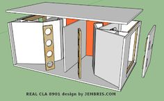 Skema Box REAL CLA 8901B Lapangan | ARA AUDIO Subwoofer Box Design, Speaker Plans, Audio, Diy Speakers, Speaker Design, Bathroom Medicine Cabinet, How To Plan, Horns, Exterior