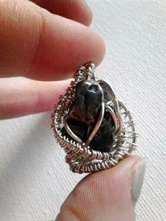 #Meteorite #wirerwrapped #silverpendant - Rayechious Art