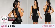 Daca vrei sa creezi un look glam pentru un cocktail party, alege aceasta rochie sexy, cu peplum si spatele decupat. Like & Share!