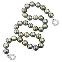 Din Vanh black pearl & diamond necklace
