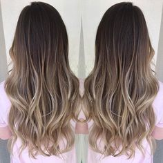 hand painted balyage brown to cool dark blonde hair. Love it! Perfect for transitioning from winter to summer