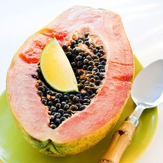 Papayas    Summer colds are the worst, so have some papaya! This tropical fruit is bursting with vitamin C – just one cup gives you more than you need each day. On top of this, papaya is also a good source of vitamins A and E, two powerful antioxidants that may help protect against heart disease and colon cancer.