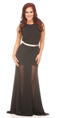 Nicole Batki Style 6547 Sheath Gold Belted Dress