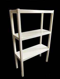 1960s White Plastic Modular Shelf Unit | Chairish Modern Spaces, Mid-century Modern, Modular Shelving, Plastic Design, 1960s, Bookcase, Shelf, Furniture, Home Decor