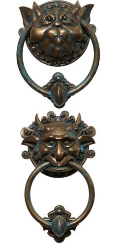 The Head of Medusa Door Knocker with Iron Knocker Collectible Figurine in Stone