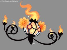 """thedrawingbirb: """" If I had the time and patience to breed a shiny chandelure I would call them Muertita… """" Ghost Type Pokemon, Pokemon Oc, Pokemon Fan Art, Fanart Pokemon, Chandelure Pokemon, Pokemon Breeds, Halloween Clay, Pokemon Collection, Cute Pokemon Wallpaper"""