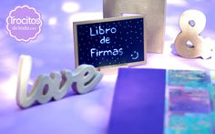 Pizarras para bodas, paper machee love, ampersand. Slates for weddings, love en carton, ampersand.