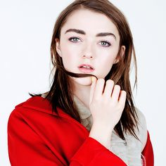 Maisie Williams in Miu Miu photographed by Naomi Yang for Glamour UK, May 2015.