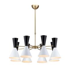 Eight Arm Italian Modernist Stilnovo Diablo Chandelier $699 Kitchen?