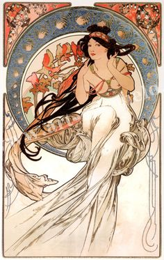 """I have always loved art nouveau and Alphonse Mucha's """"Music"""" has always been my favorite. This would be the tattoo I would get, if I ever work up the courage to do a partial backpiece."""