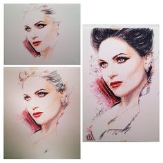 Yah! Almost finished with the artwork of The Evil Queen. Man this one is a challenged for me.