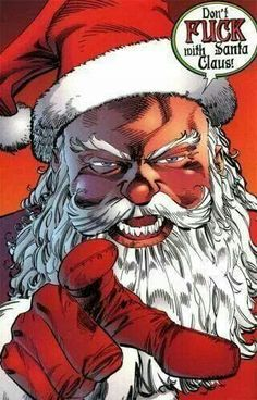 In the world of superheroes, there's something else that Santa Claus delivers with his toys and [. Savage Dragon, Horror Films, Christmas Themes, Deadpool, Scary, Spiderman, Xmas, Merry Christmas, Joker