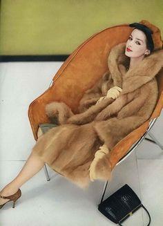 vintage fur . 1950's fashion