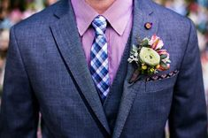 Loving this groom's style! Photo by Curtis Moore of Moore Photography