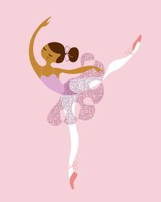 8X10 Ballerina Arabesque giclee print on fine art by ThePaperNut