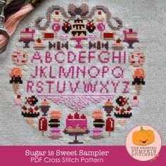 Sugar is Sweet Sampler PDF Cross Stitch Pattern / The Frosted Pumpkin Stitchery