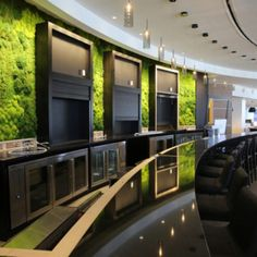 <strong>CC-HC-02</strong> Green wall behind the bar at Hilton Cleveland Downtown