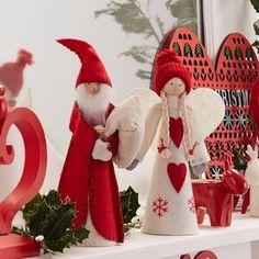 The Christmas Home Nordic Angel Tree Topper Christmas Angel Crafts, Diy Christmas Tree Topper, Xmas Tree Toppers, Diy Tree Topper, Personalised Christmas Tree Decorations, Nordic Christmas, Christmas Makes, Xmas Ornaments, Felt Christmas