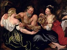 Peter Paul Rubens - Lot and his daughters