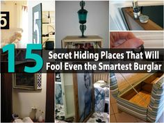 35 Space Saving DIY Hidden Storage Ideas For Every Room - 35 of the BEST DIY organizing ideas that provide hidden storage space. Includes DIY plans to create hidden storage for kitchen, bathroom, living room and bedroom. Diy Hidden Storage Ideas, Secret Storage, Diy Storage, Storage Solutions, Diy Organizer, Diy Organization, Organizing Ideas, Home Security Tips, Home Security Systems