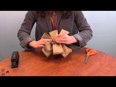 DIY Burlap Bow - YouTube