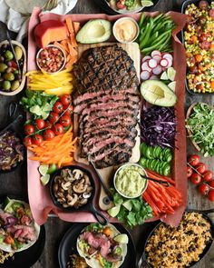 Ontario Beef - Flank Steak Tacos  Serve with grilled tortillas, guacamole and all your favourite fixings. #OntarioBeef #GatherRound #tacos