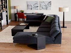 The other optional reclining sectional sofas sale is Romanian sectional sofa. The dark green motif of this leather sectional sofa create fresh nuance in the living room.