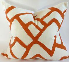 Schumacher Zimba Pillow Cover in Orange
