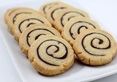 The Galley Gourmet: Nutella Pinwheel Cookies - these are perfect because you can make the dough in advance and store it in the freezer for up to 2 weeks.  And once baked they will keep for up to a week in an airtight container