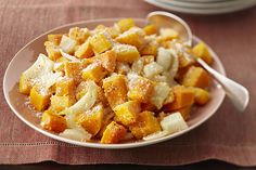 Butternut squash is a fall favourite in the KRAFT KITCHENS.  We've taken oven-roasted squash and onions and topped them with…