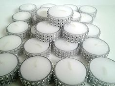 Tealight  Fresh Linen Scent Silver Bling Tealight by TheDeevaShop, $18.95