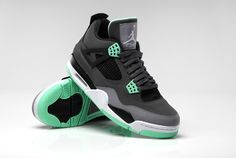 """The Nike Air Jordan 4 Retro """"Green Glow"""" is now available on Nike.com. Featuring a bright new addition to the already-popular catalog of popular colors."""