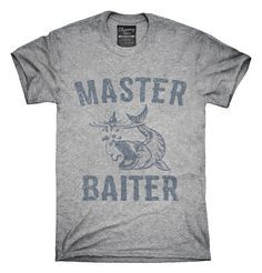Master Baiter Funny Fishing T-Shirts, Hoodies, Tank Tops